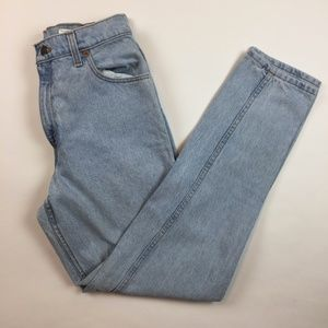Vintage Levi's 550 High Rise Mom Jeans 11 Long P22